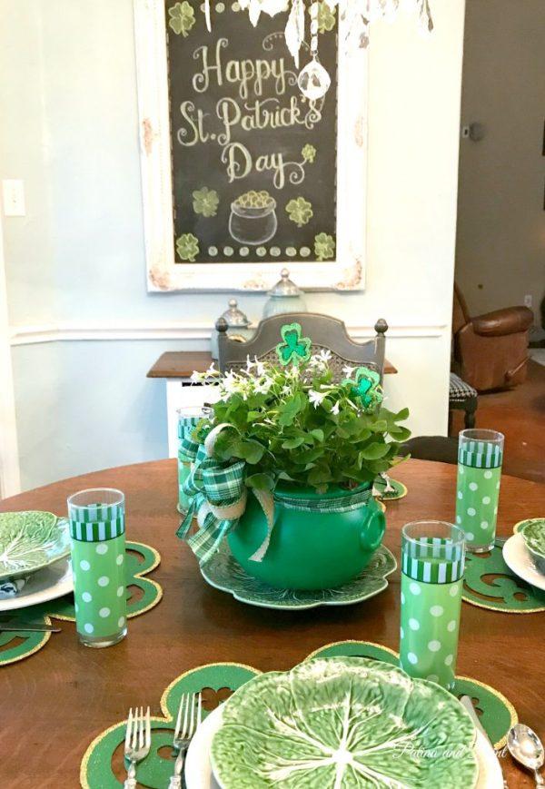 St. Patrick's table scape