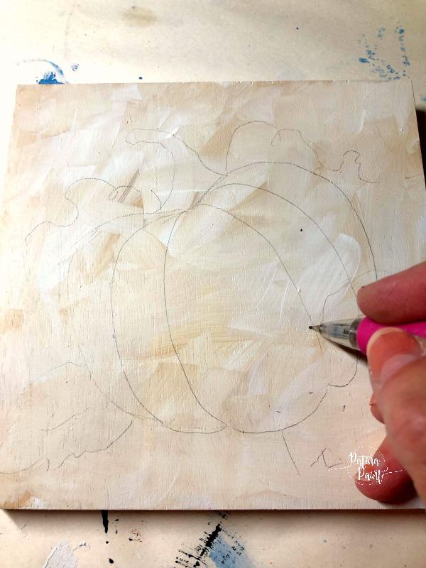 drawing a pumpkin