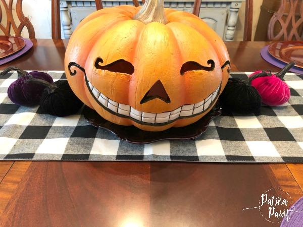 jack-o-lantern, velvet pumpkins