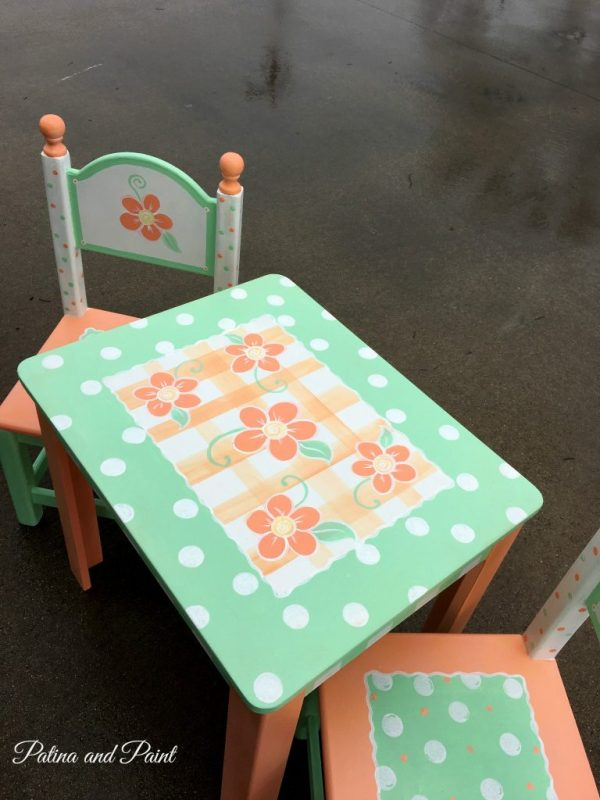 painted children's table 3