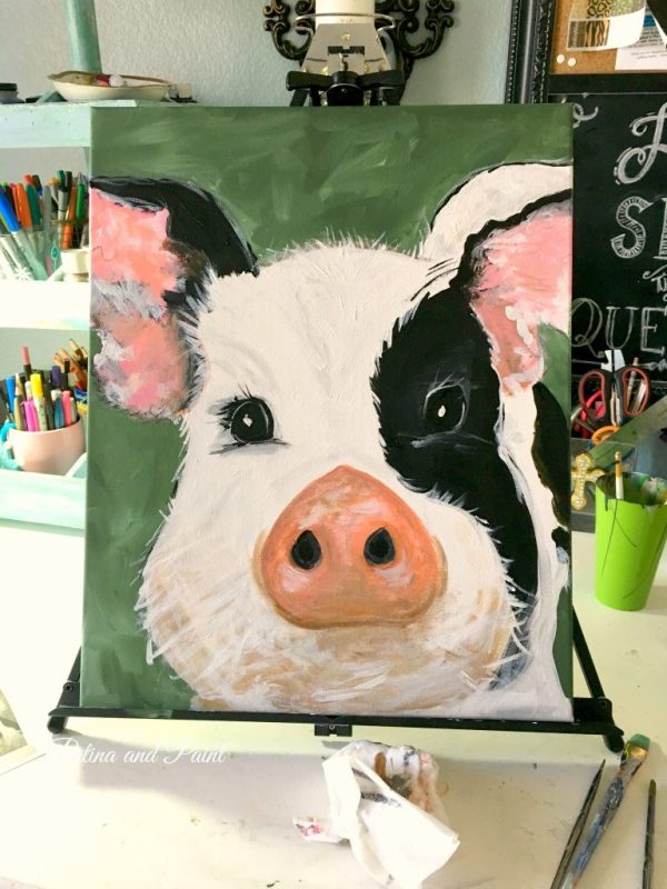 pig painting