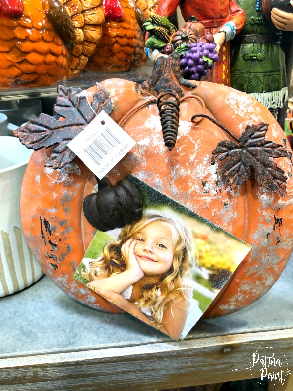 pumpkin picture holder