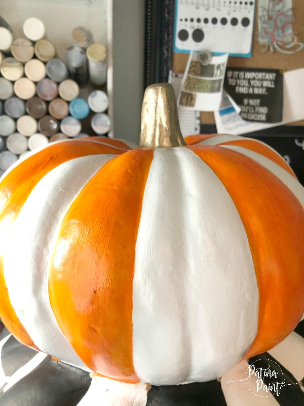 orange and white pumpkin