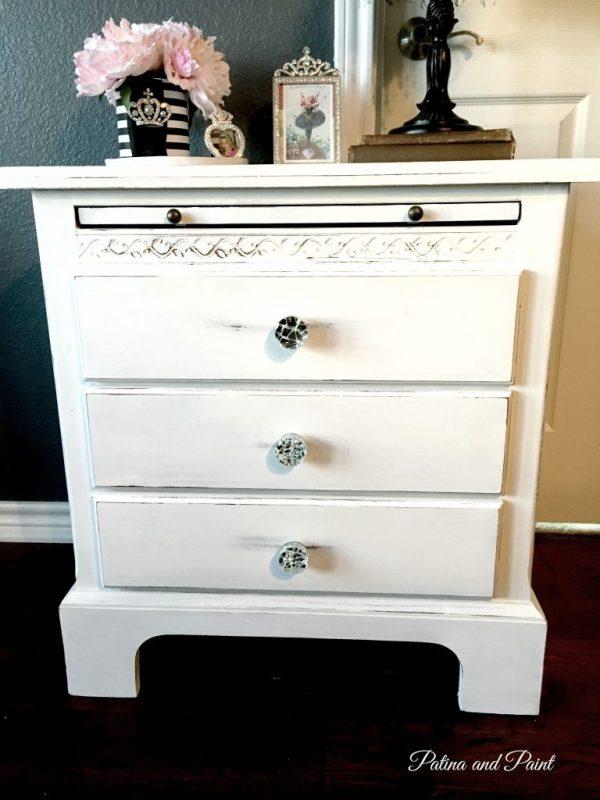 white nightstand 1