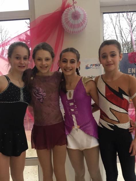 Léa, Emma, Estée, Clémence
