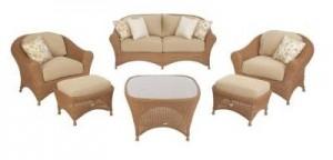 Living Lily Bay Cushions - Patio Furniture Cushions on Martha Stewart Wicker Patio Set id=74719