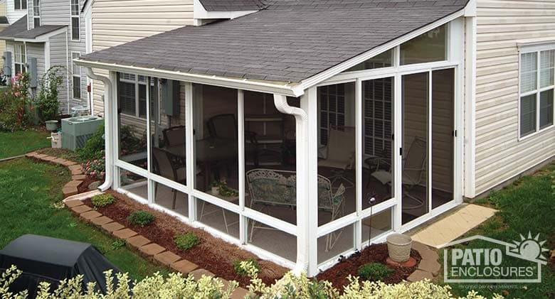 How to Convert a Deck to a Screened Porch on Patio Enclosure Ideas  id=14635