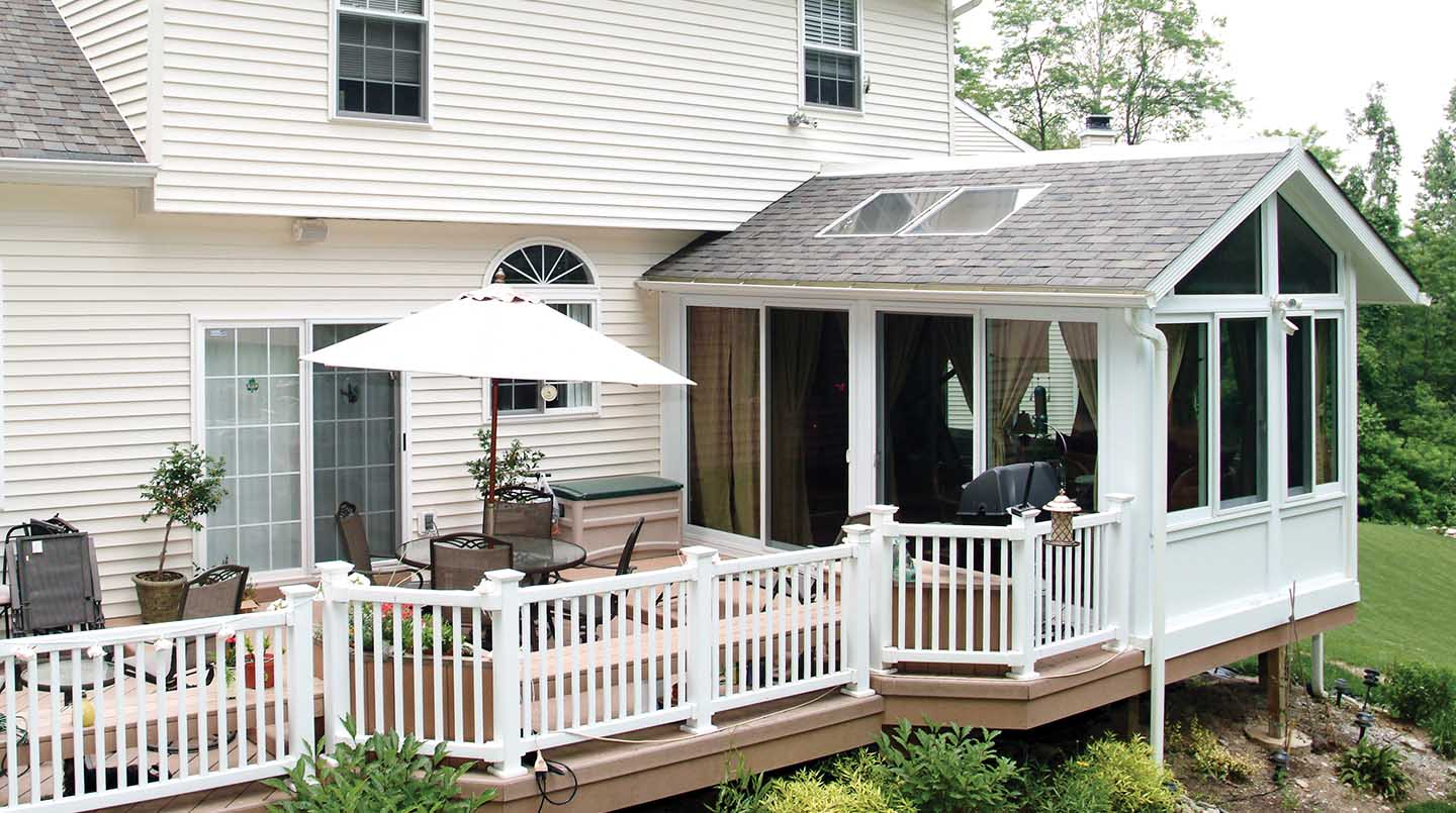 Aluminum Sunroom Addition Pictures, Ideas & Designs ... on Add On Patio Ideas  id=36344