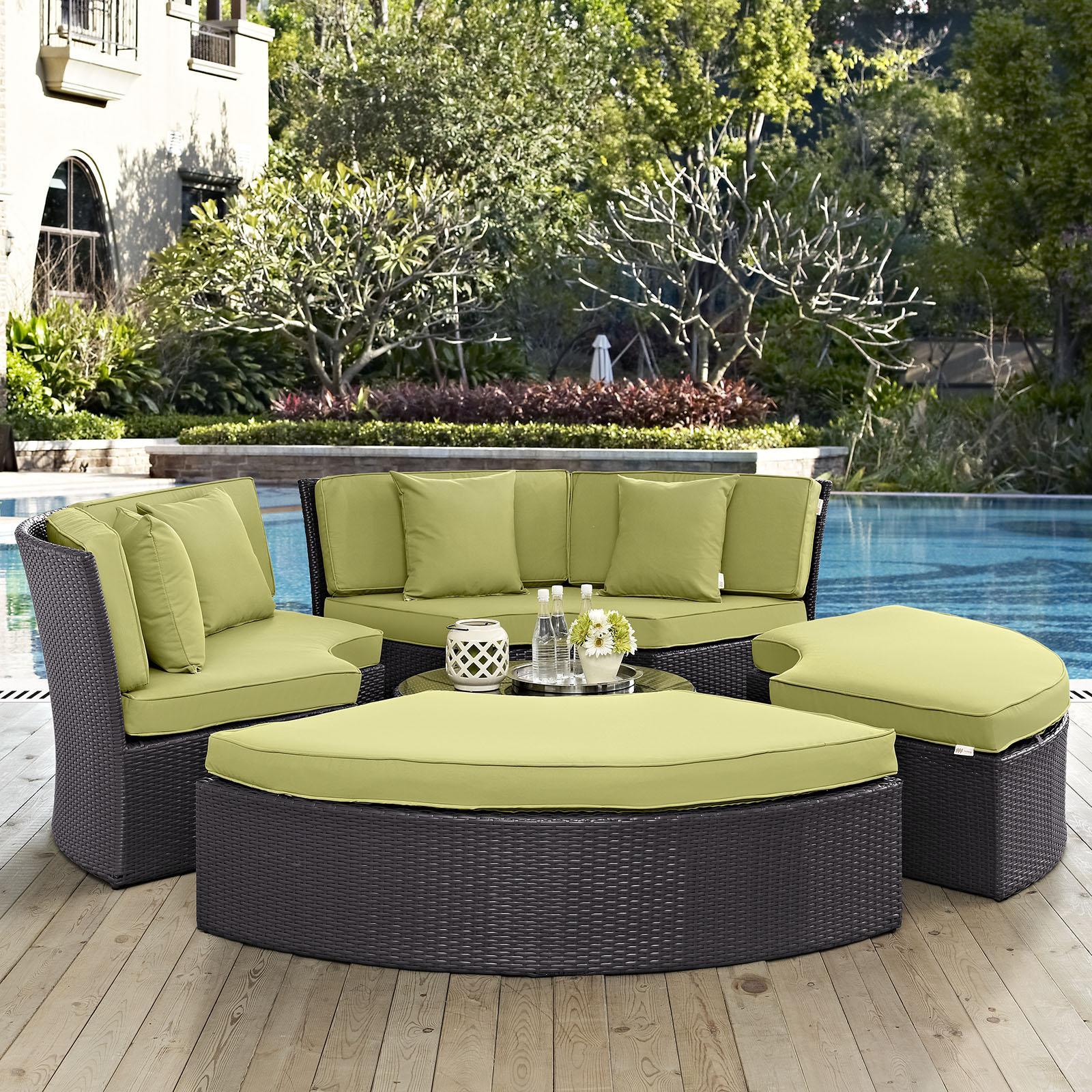 circular outdoor patio daybed set eei 2171 discontinued