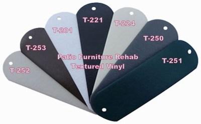 textured vinyl samples for outdoor furniture