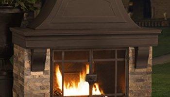 Sunjoy 110504003 Japer Wood Burning Fire Place Large