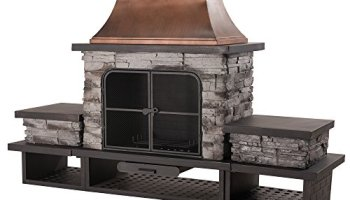 Sunjoy l of079pst 1 farmington 48 steel and faux stack stone sunjoy l of083pst 2 stone fire place teraionfo