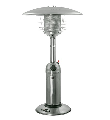 AZ Patio Heaters HLDS032 B Portable Table Top Stainless Steel Patio Heater,  Stainless Finish