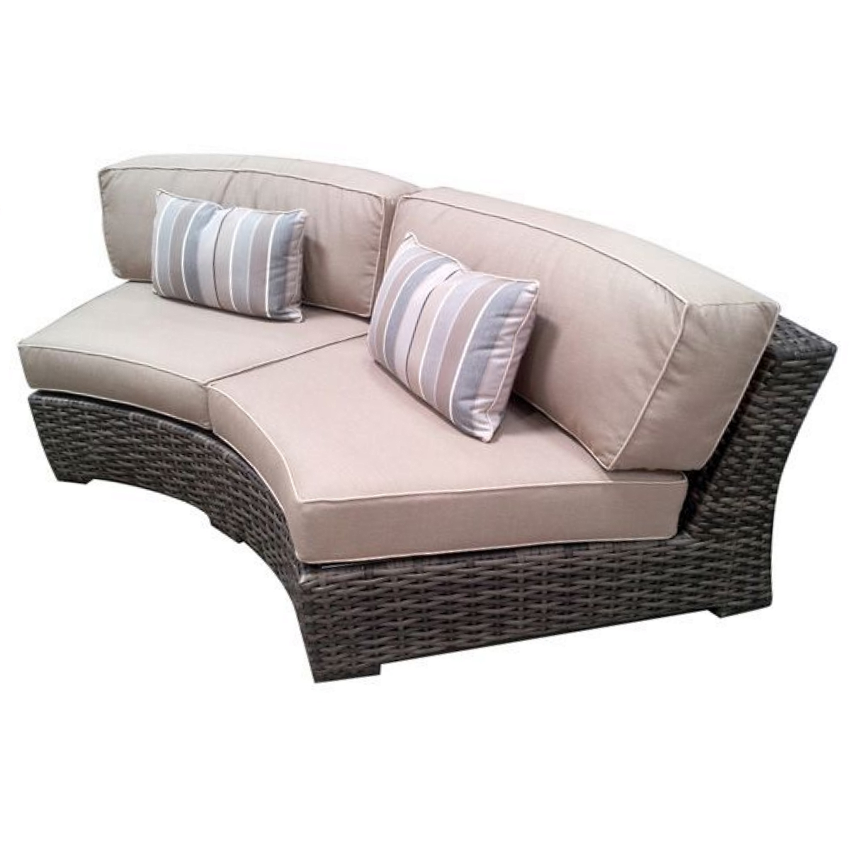 concord outdoor patio furniture curved sofa