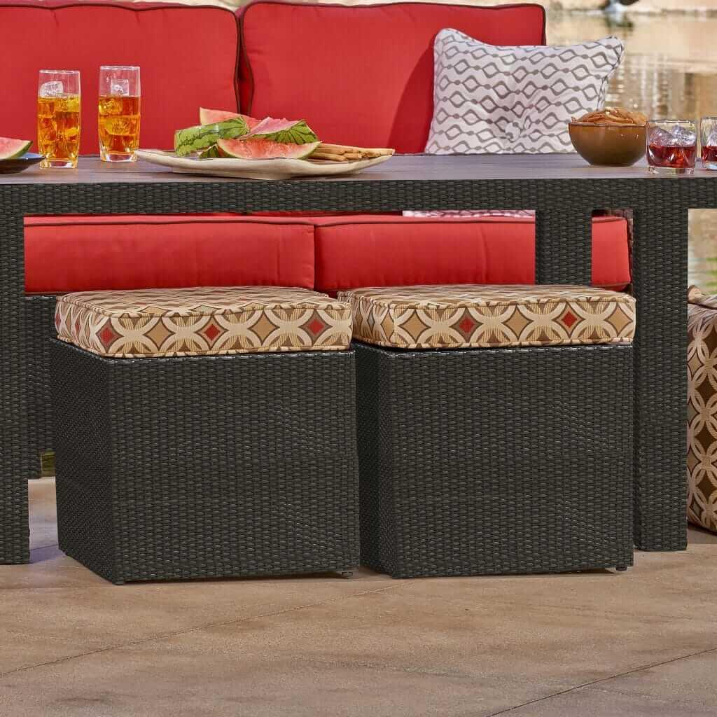 universal outdoor patio furniture cube ottoman