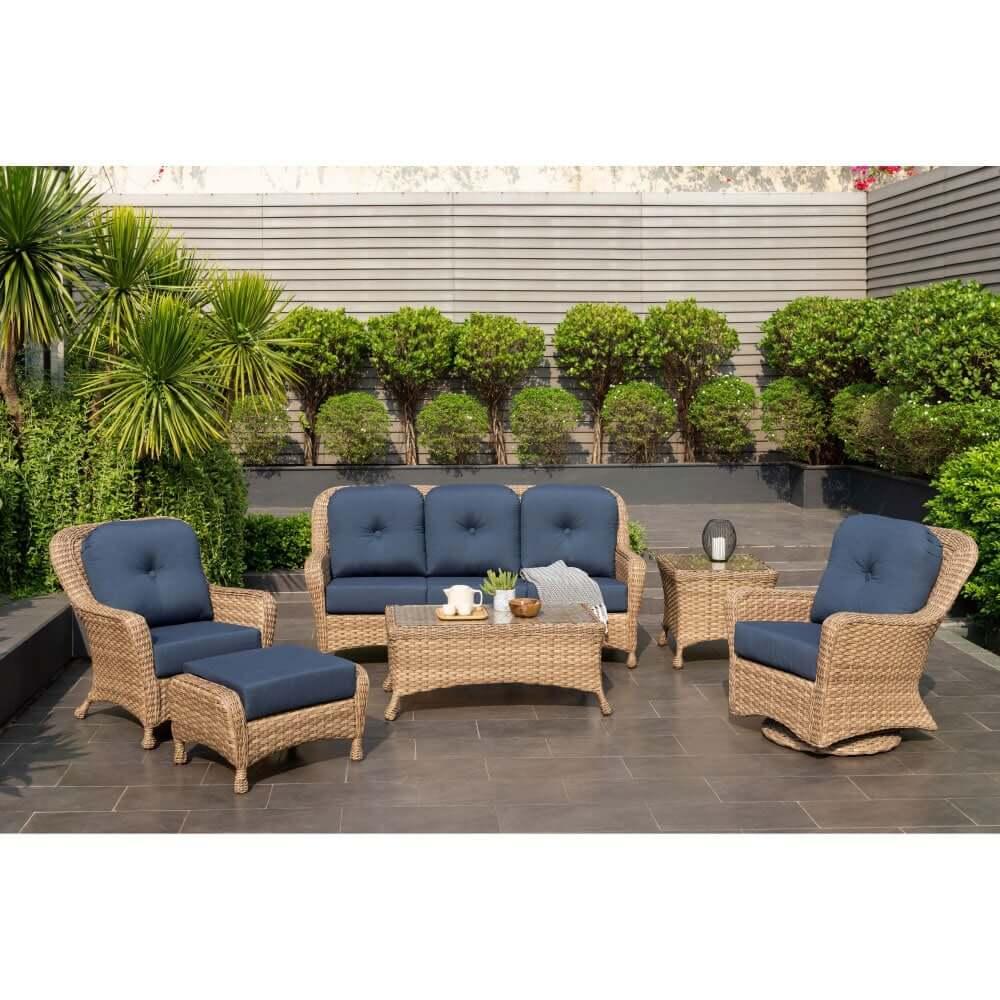 savannah sofa 6 piece outdoor patio furniture set