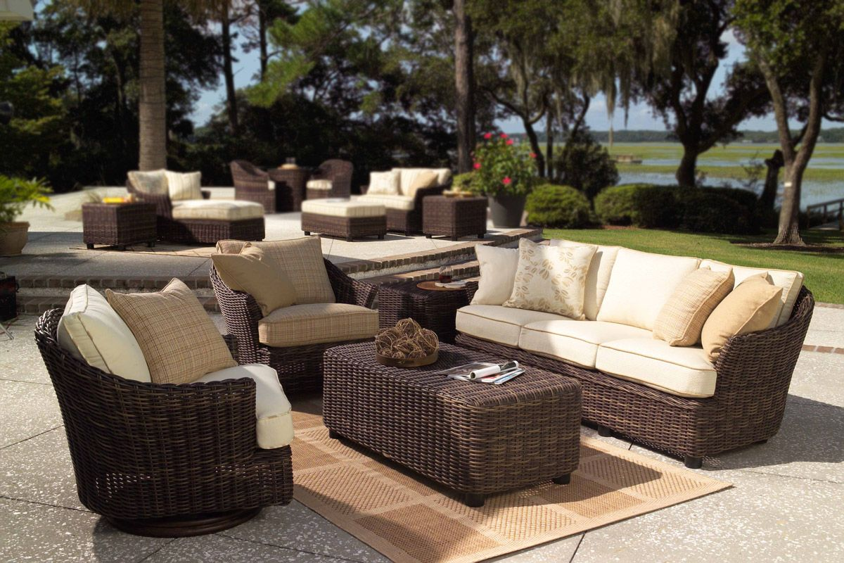 thick wicker furniture sets with