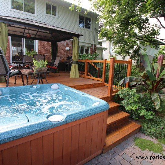 Decks With Hot Tubs Archives Patios Et Cl 244 Tures Beaulieu