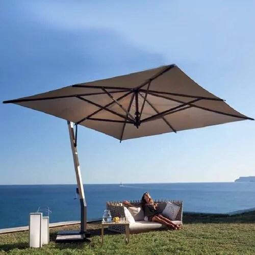 11 5 square heavy duty aluminum cantilever umbrella