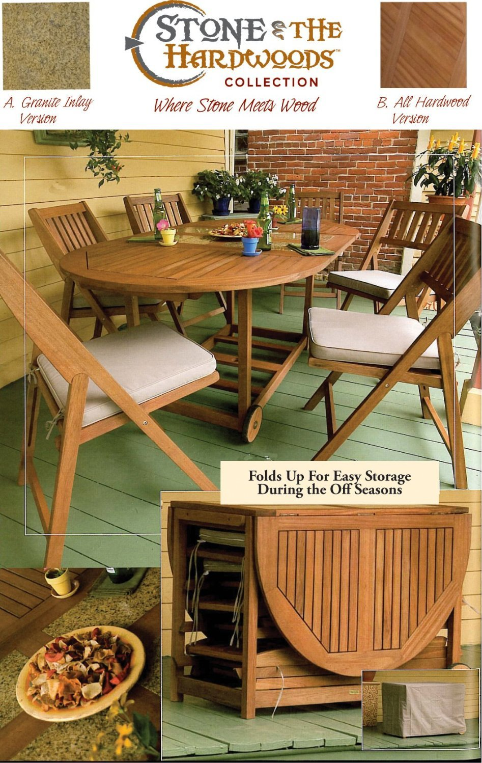 Table And Folding Chair Set