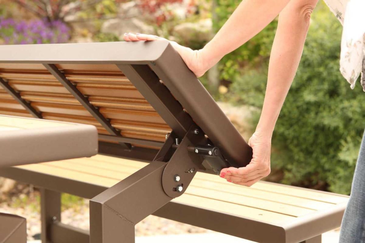 Lifetime Convertible Picnic Table Bench Patio Table