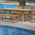 Wholesaleteak 7 Piece Grade A Teak Outdoor Dining Set With Bench And Stackable Chairs Patio Table