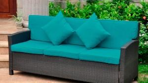 International Caravan Valencia 3 Seat Wicker Outdoor Sofa