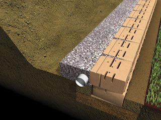 ensure proper drainage and backfill