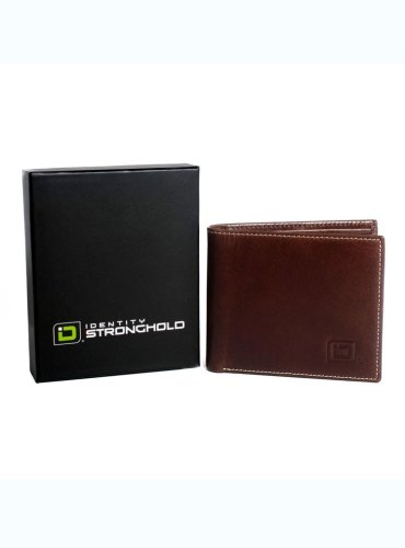 RFID Wallet 6 Slot Bifold Stonewashed Leather