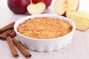 gourmet apple crumble