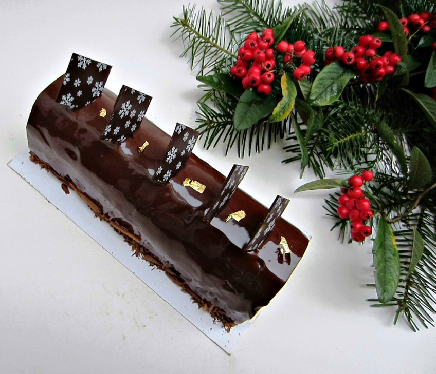 Chocolate & Chestnut Buche de Noel