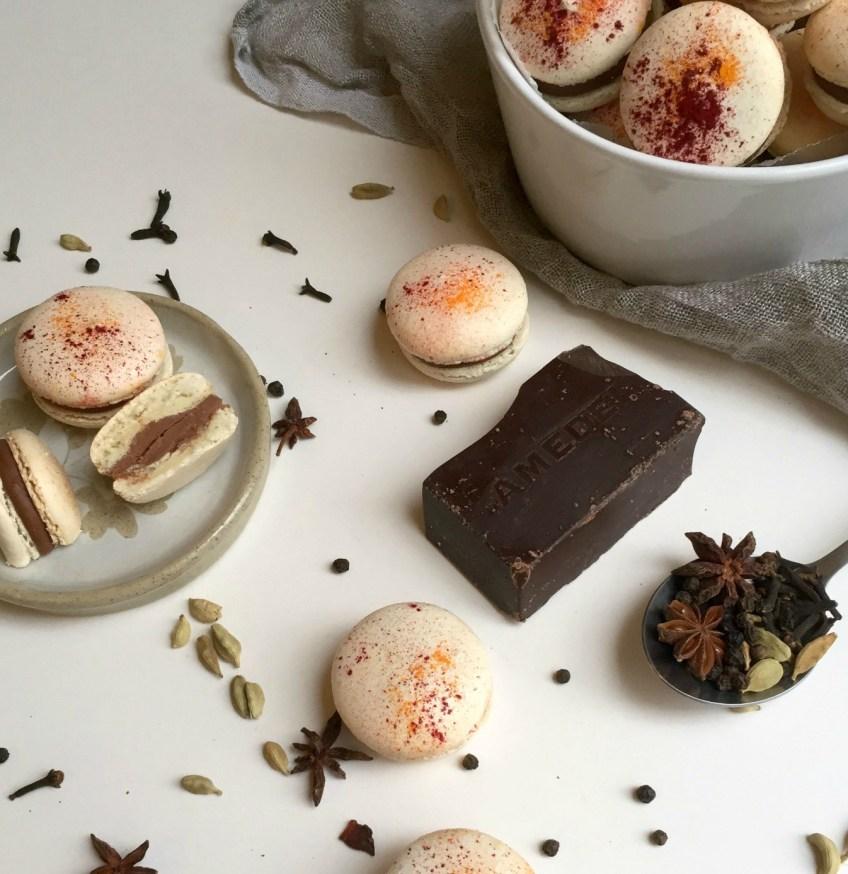 Masala Chai Macarons