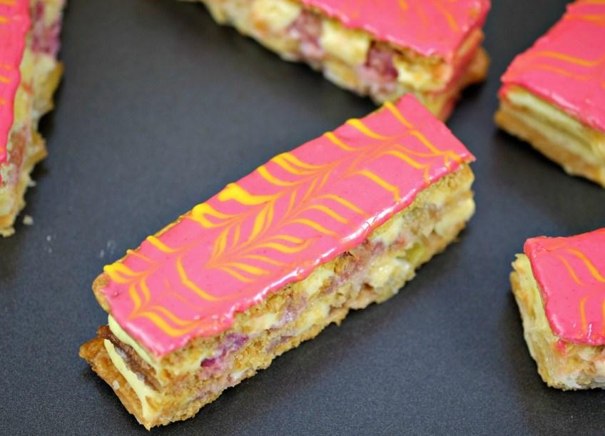 Patisserie Makes Perfect   Rhubarb & Custard Mille-Feuille