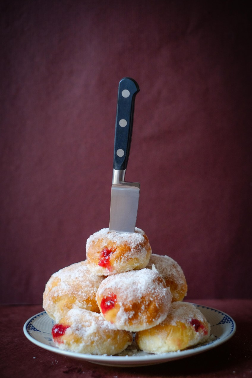 Strawberry & Redcurrant Jelly Doughnuts | Patisserie Makes Perfect