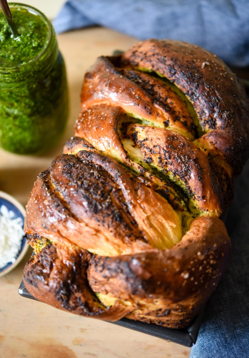 Wild Garlic Pesto Milk Bread | Patisserie Makes Perfect