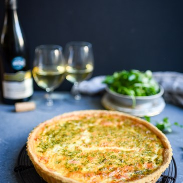 Smoked Salmon Quiche + Le Petit Ballon Wine Giveaway