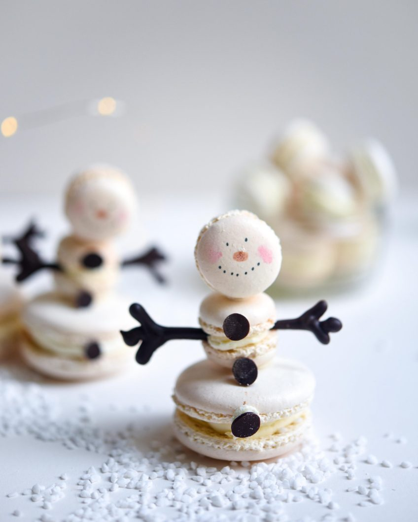 Macaron Snowmen | Patisserie Makes Perfect