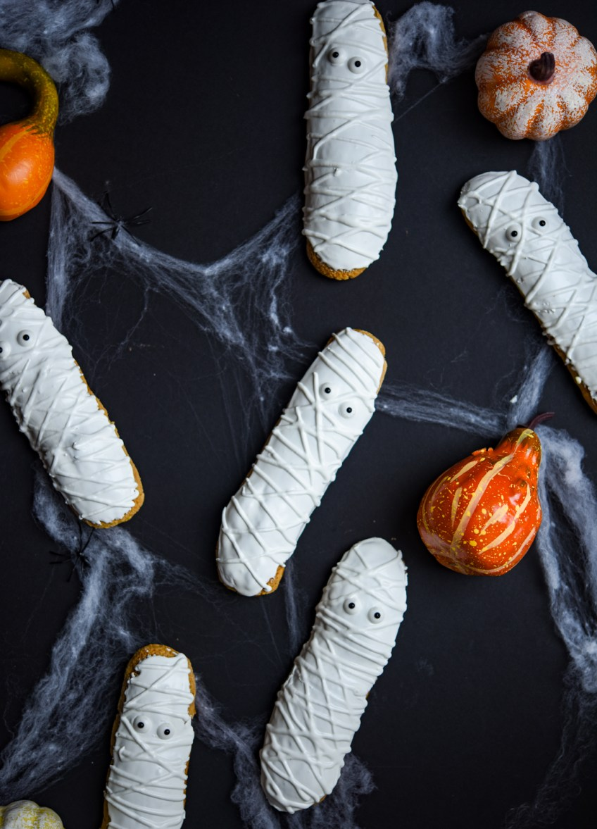 Amarula Vanilla Spice Mummy Eclairs | Patisserie Makes Perfect