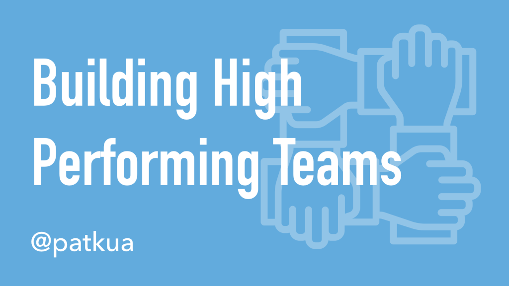 Building High Performing Teams Cover Slide