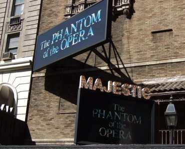 Watching Phantom of the Opera at Majestic Theatre New York City