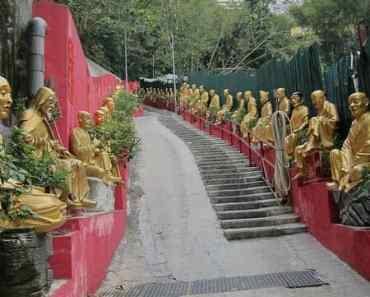 Man Fat Sze or Ten Thousand Buddhas Monastery 萬佛寺 : The Walk Up