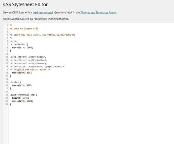 Jetpack Custom CSS for Twenty Fourteen Theme