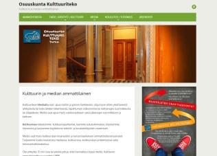 Osuuskunta Kulttuuriteon uuden verkkosivuston suunnittelu ja toteutus, 2016.