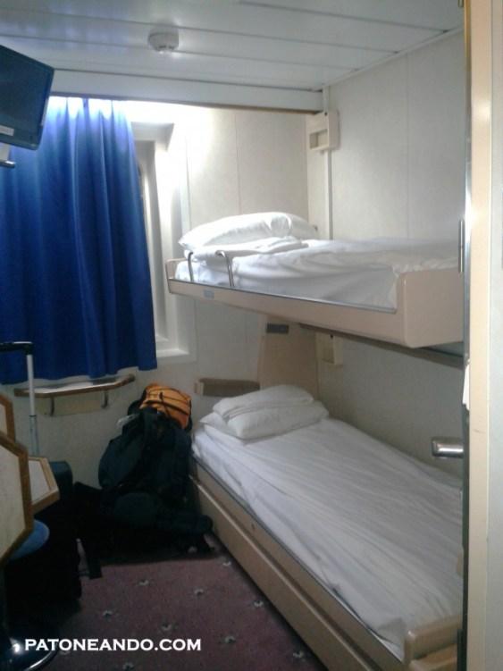 Si no sufres de claustrofobia, no tendrás problemas durmiendo en una cabina así