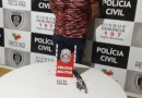 Homem é preso pela Polícia Militar portando arma de fogo em Jericó