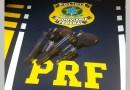 PRF apreende no Sertão armas que haviam sido furtadas de empresa de segurança