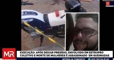 """Após deixar presídio, acusado de participar de """"estupro coletivo"""" em Queimadas é morto a tiros no meio da rua"""