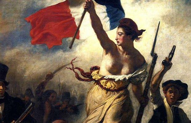 La Liberté guidant le peuple (particolare), Eugène Delacroix, 1830
