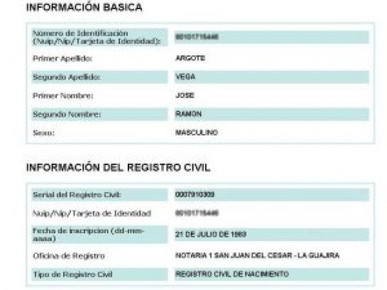 Partida de nacimiento de José Argote (1)