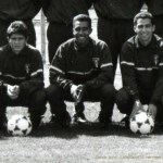Lizarazu, Pat et Djorkaeff, bataillon de Joinville